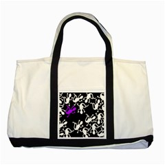 Purple Lizard  Two Tone Tote Bag by Valentinaart