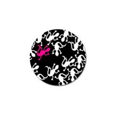 Magenta Lizard Golf Ball Marker (4 Pack) by Valentinaart