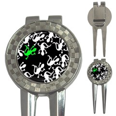 Green Lizards  3 In 1 Golf Divots by Valentinaart