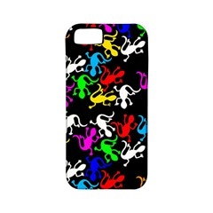 Colorful Lizards Pattern Apple Iphone 5 Classic Hardshell Case (pc+silicone) by Valentinaart