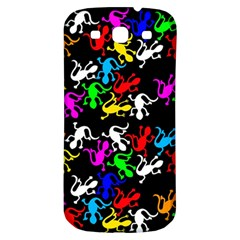 Colorful Lizards Pattern Samsung Galaxy S3 S Iii Classic Hardshell Back Case by Valentinaart