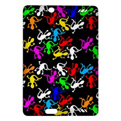 Colorful Lizards Pattern Amazon Kindle Fire Hd (2013) Hardshell Case by Valentinaart