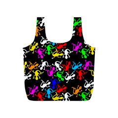 Colorful Lizards Pattern Full Print Recycle Bags (s)  by Valentinaart