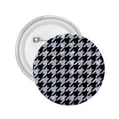Houndstooth1 Black Marble & Gray Marble 2 25  Button by trendistuff