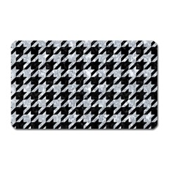 Houndstooth1 Black Marble & Gray Marble Magnet (rectangular) by trendistuff