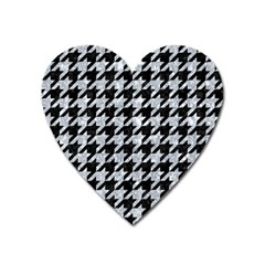 Houndstooth1 Black Marble & Gray Marble Magnet (heart) by trendistuff
