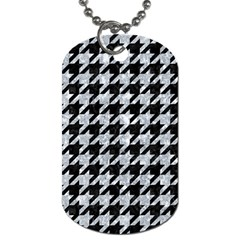 Houndstooth1 Black Marble & Gray Marble Dog Tag (one Side) by trendistuff