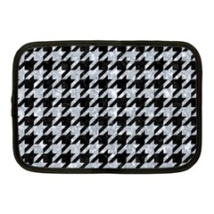 Houndstooth1 Black Marble & Gray Marble Netbook Case (medium) by trendistuff