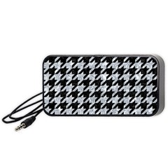 Houndstooth1 Black Marble & Gray Marble Portable Speaker (black) by trendistuff