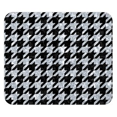 Houndstooth1 Black Marble & Gray Marble Double Sided Flano Blanket (small) by trendistuff