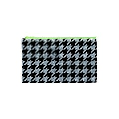 Houndstooth1 Black Marble & Gray Marble Cosmetic Bag (xs) by trendistuff
