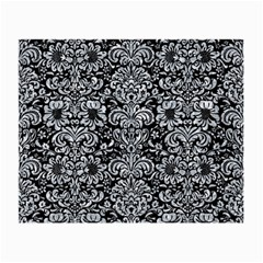 Damask2 Black Marble & Gray Marble Small Glasses Cloth by trendistuff