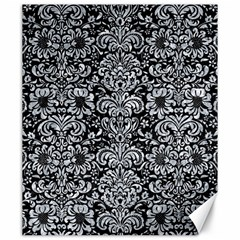 Damask2 Black Marble & Gray Marble Canvas 20  X 24  by trendistuff