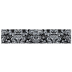 Damask2 Black Marble & Gray Marble Flano Scarf (small) by trendistuff
