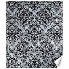 Damask1 Black Marble & Gray Marble (r) Canvas 20  X 24  by trendistuff