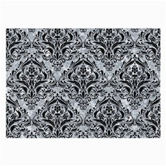 Damask1 Black Marble & Gray Marble (r) Large Glasses Cloth by trendistuff