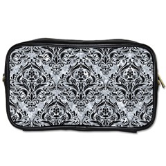 Damask1 Black Marble & Gray Marble (r) Toiletries Bag (two Sides) by trendistuff