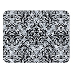 Damask1 Black Marble & Gray Marble (r) Double Sided Flano Blanket (large) by trendistuff