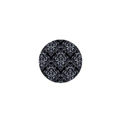 Damask1 Black Marble & Gray Marble 1  Mini Magnet by trendistuff