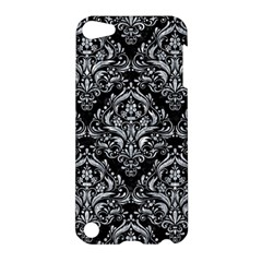 Damask1 Black Marble & Gray Marble Apple Ipod Touch 5 Hardshell Case by trendistuff
