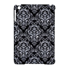 Damask1 Black Marble & Gray Marble Apple Ipad Mini Hardshell Case (compatible With Smart Cover) by trendistuff