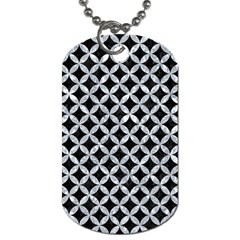 Circles3 Black Marble & Gray Marble Dog Tag (one Side) by trendistuff