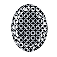 Circles3 Black Marble & Gray Marble Oval Filigree Ornament (two Sides) by trendistuff