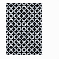 Circles3 Black Marble & Gray Marble Large Garden Flag (two Sides) by trendistuff