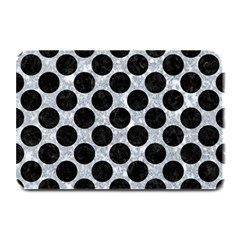 Circles2 Black Marble & Gray Marble (r) Plate Mat by trendistuff