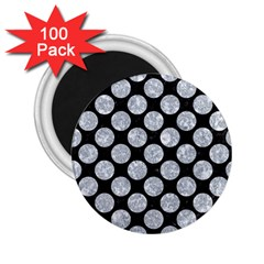 Circles2 Black Marble & Gray Marble 2 25  Magnet (100 Pack)  by trendistuff