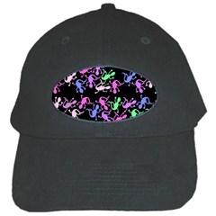 Purple Lizards Pattern Black Cap