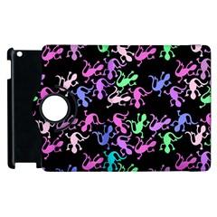 Purple Lizards Pattern Apple Ipad 3/4 Flip 360 Case by Valentinaart