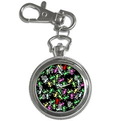 Playful Lizards Pattern Key Chain Watches by Valentinaart