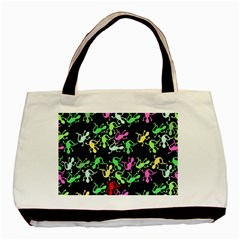 Playful Lizards Pattern Basic Tote Bag (two Sides) by Valentinaart