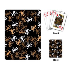 Brown Lizards Pattern Playing Card by Valentinaart