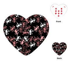 Decorative Lizards Pattern Playing Cards (heart)  by Valentinaart