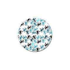 Lizards Pattern   Blue Golf Ball Marker (10 Pack) by Valentinaart