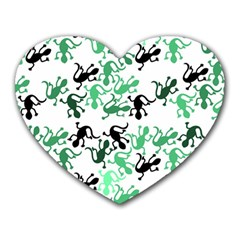 Lizards Pattern   Green Heart Mousepads by Valentinaart