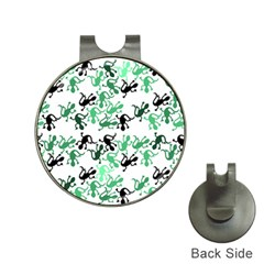 Lizards Pattern   Green Hat Clips With Golf Markers by Valentinaart