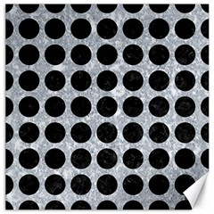 Circles1 Black Marble & Gray Marble (r) Canvas 12  X 12  by trendistuff