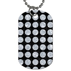 Circles1 Black Marble & Gray Marble Dog Tag (one Side) by trendistuff