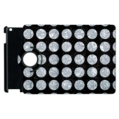 Circles1 Black Marble & Gray Marble Apple Ipad 3/4 Flip 360 Case