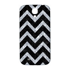 Chevron9 Black Marble & Gray Marble Samsung Galaxy S4 I9500/i9505  Hardshell Back Case by trendistuff