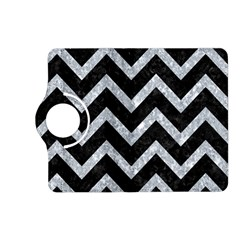 Chevron9 Black Marble & Gray Marble Kindle Fire Hd (2013) Flip 360 Case by trendistuff