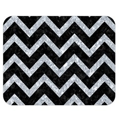 Chevron9 Black Marble & Gray Marble Double Sided Flano Blanket (medium) by trendistuff