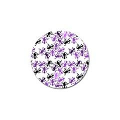 Lizards Pattern   Purple Golf Ball Marker (10 Pack) by Valentinaart
