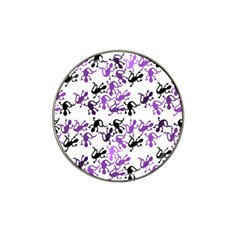 Lizards Pattern   Purple Hat Clip Ball Marker by Valentinaart