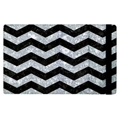 Chevron3 Black Marble & Gray Marble Apple Ipad 2 Flip Case by trendistuff