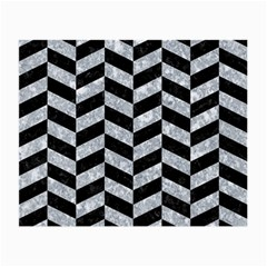 Chevron1 Black Marble & Gray Marble Small Glasses Cloth (2 Sides) by trendistuff