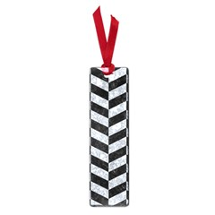Chevron1 Black Marble & Gray Marble Small Book Mark by trendistuff